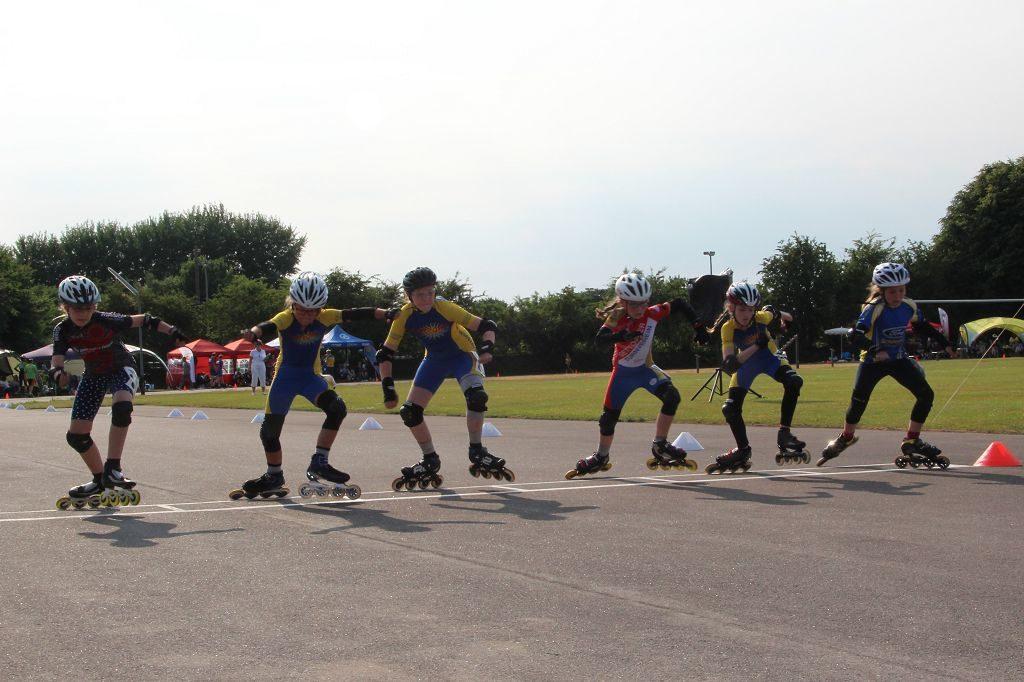 Start 400 Meter-Lauf Schülerinnen B